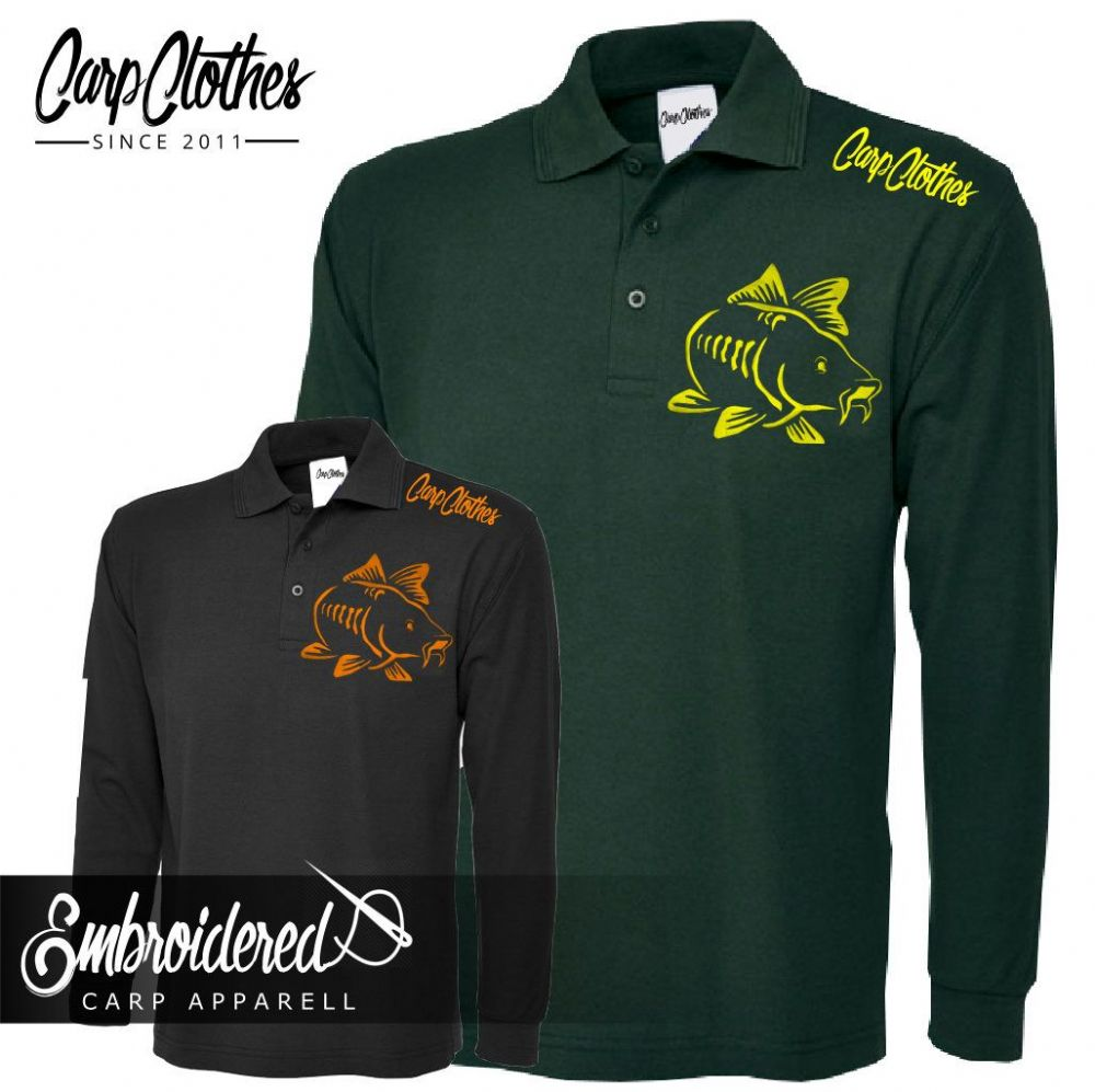 003 EMBROIDERED CARP LS  POLO